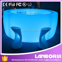Illuminated Interactive Remote Color Changing Glow LED Bar Table Furniture