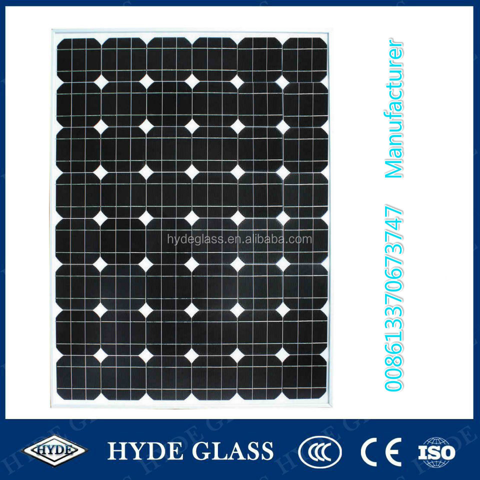 China 4mm tempered low iron or ultra clear pattern solar cell glass