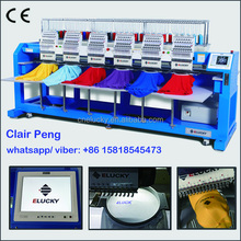 Second hand garments embroidery machine with multi heads