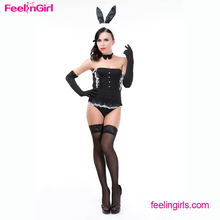 Hot Sale Rabbit Strapless Sexy Girl Sex Bunny Carnaval Online Costumes China