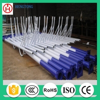 OEM conical shape solar street lamp post