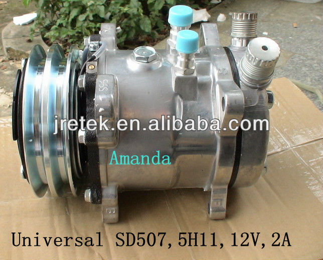 Universal 507 5H11 12V 2A Sanden Auto Air conditioning Compressor