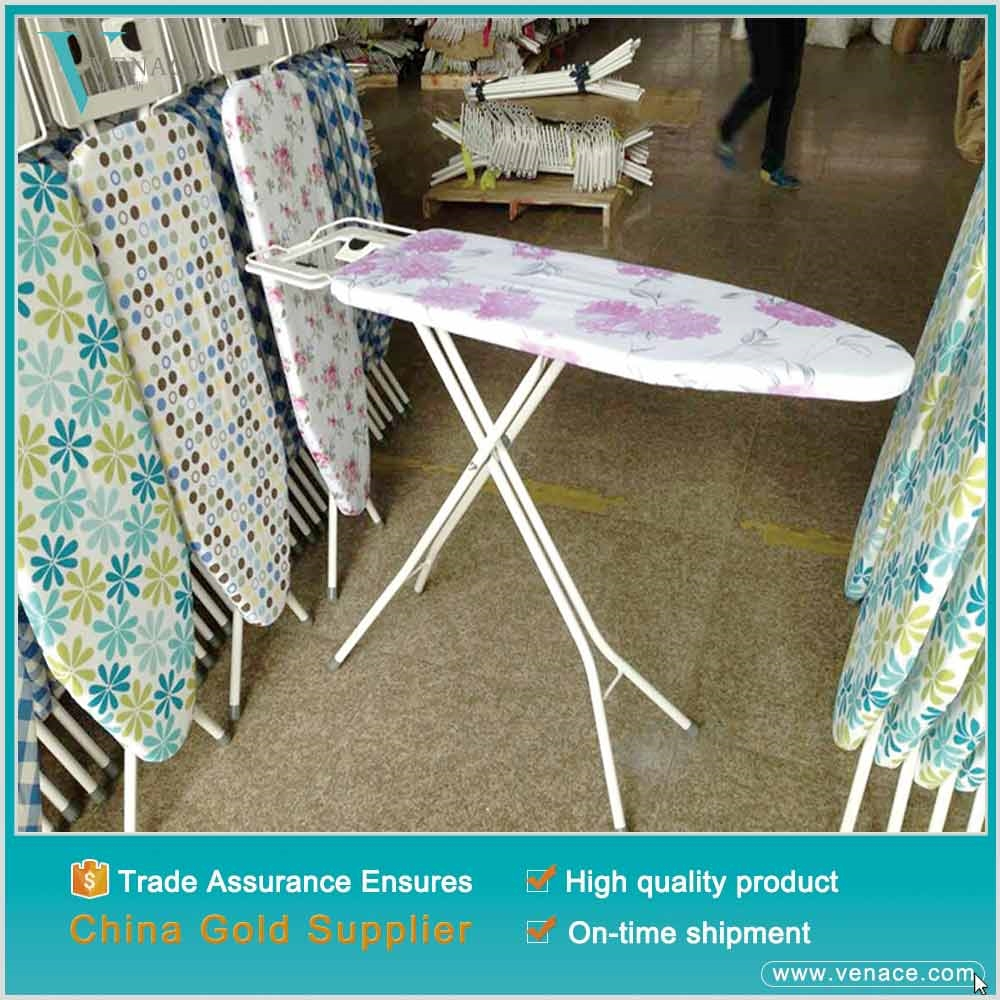 2015 New deluxe customized stable wall mounted Metal Ironing Board with flower cotton cover