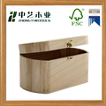 Wholesales handmade unfinished oval paulownia hinged wooden gift boxes
