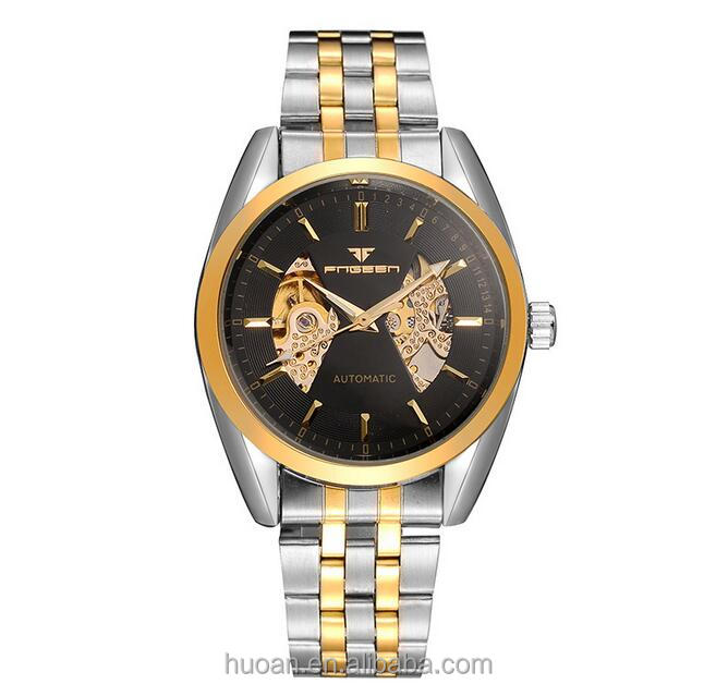 Gold design watch japanese digital watches factory direct sale for 2016