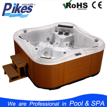 Guangzhou Joyspa Acrylic used cheap freestanding whirlpool bathtub for 5people with massage jet