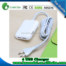 4 Port USB power adapter US/EU/UK Plug for Samsung Iphone,usb charger adapter