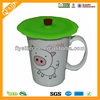 2014 Daily Life Use Fashion Silicone Mug Cover Lid