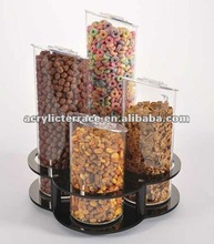 acrylic candy bin with tube,acrylic bulk food bin,candy box