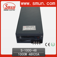 48V Switching Power Supply 1000W 20A 48V DC Output S-1000-48