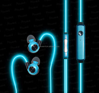 Power4 neckband sport led earphone el headphones for iphone/samsung/xiaomi