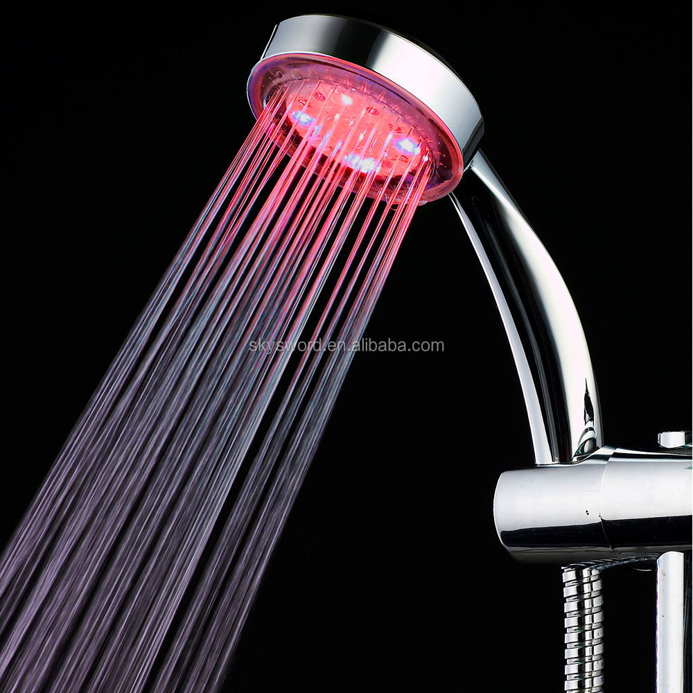 China Products Temperature Display Rain Led Shower Head With High Quality
