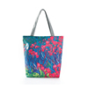 1CT0040 Oil Painting Flowers Digital Printing Color Shoulder Shopping Bags Canvas Tote Bag