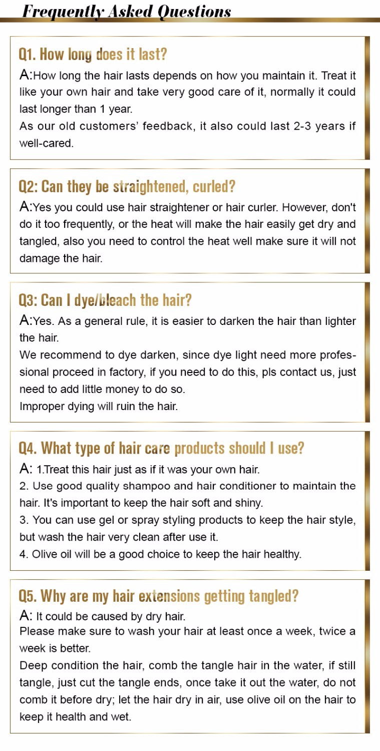 instruction of hair