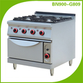 Restaurant Equipment Heavy Duty 4 Burner Cast Iron Gas Cooker With Oven