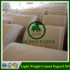64gsm 70gsm 80gsm LWC paper Light weight coated paper in sheet or roll