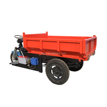 Licheng high performance China 3 wheel site dumper in farm / 2 tons hydraulic mini dumper for sale