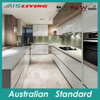 AIS KC-302 residential whole kitchen, Formica finish kitchen cabinet, MDF lacquer kitchen cabinets
