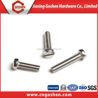 stainless steel slotted cheese head machine screw manufacturers