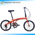 20 Inch Red Bicycle 6 Speed Foldable Folding Bike Cycling Sport Bicycle Made In China