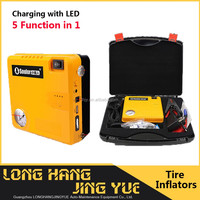 instant tyre inflator/cordless air pump/12v rechargeable mini air compressor