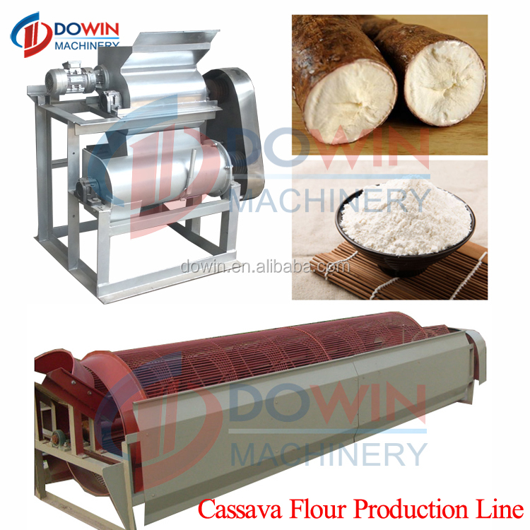 easy operation and labor saving cassava flour production line