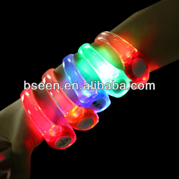 Promotional party sound activated led nfc wristbands