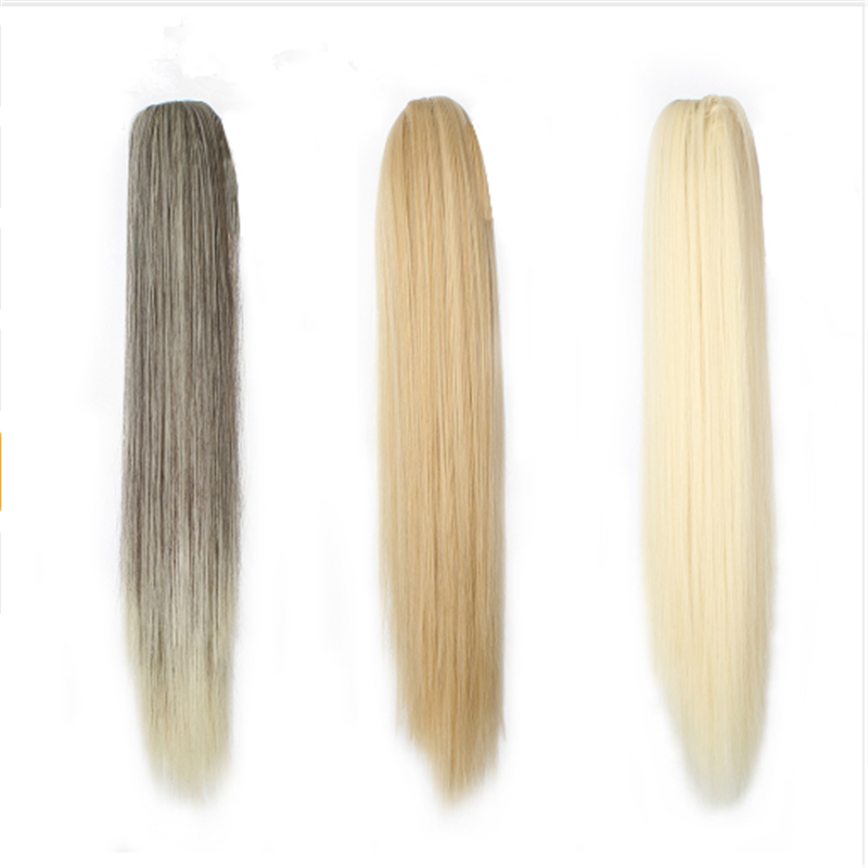 12 Colors Long Straight Ponytail Natural Colors