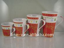 Porcelain coffee cup and mug series, Christmas mug