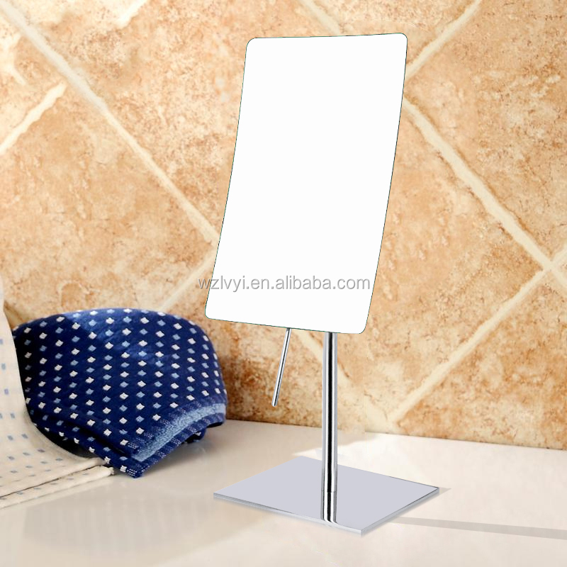 LY-2234 square table free standing magnifying makeup mirror without led lights