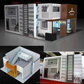 Detian Display offer modular two level/floor show exhibition stand with aluminum
