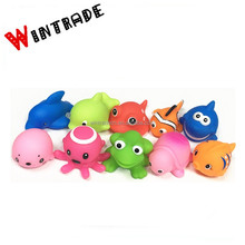 Phthalate free pvc vinyl squirting water sea animal baby bath toys