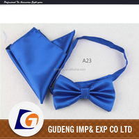 polyester bow tie and pocket square with mens
