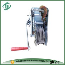 factory direct hand winch steel wire rope wood winch