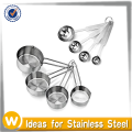 8 pcs Stainless Steel Measuring Cup and Spoon Set,Measuring cup, Measuring Cup Set