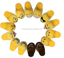 Free Sample Plush Emoji Slipper / Soft Lady Rubber Plush Emoji Slipper / Plush Emoji Slipper For Kids