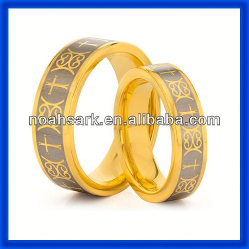 hot selling 18 k gold celtic tungsten ring TPCR136