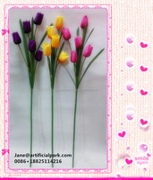 High quality artificial flowers making for home decoration/wholesale artificial tulip fake flowers for sale made in China