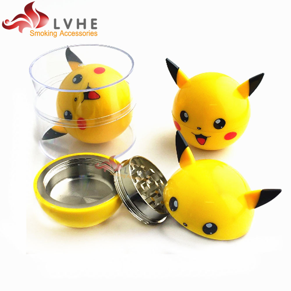 163GM LVHE China Factory New Pokeball Weed Grinder Pikachu Herb Grinder