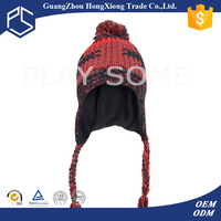 New style woman ear flap winter hats with strings