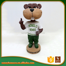 Resin home decor custom animal bobble head