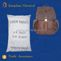 Tech grade sodium formate for leather use