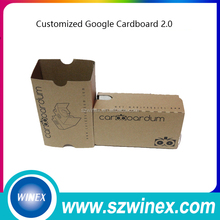 "2017 New Google cardboard version 2.0 Google Cardboard 2 virtual reality vr google cardboard 3D glasses for 3.5-6"" phone Rift"