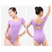 Dansgirl Pretty Bow Back Short Sleeve Ballet Dance Leotards