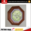 Round shape pvc window fixed window stationary window