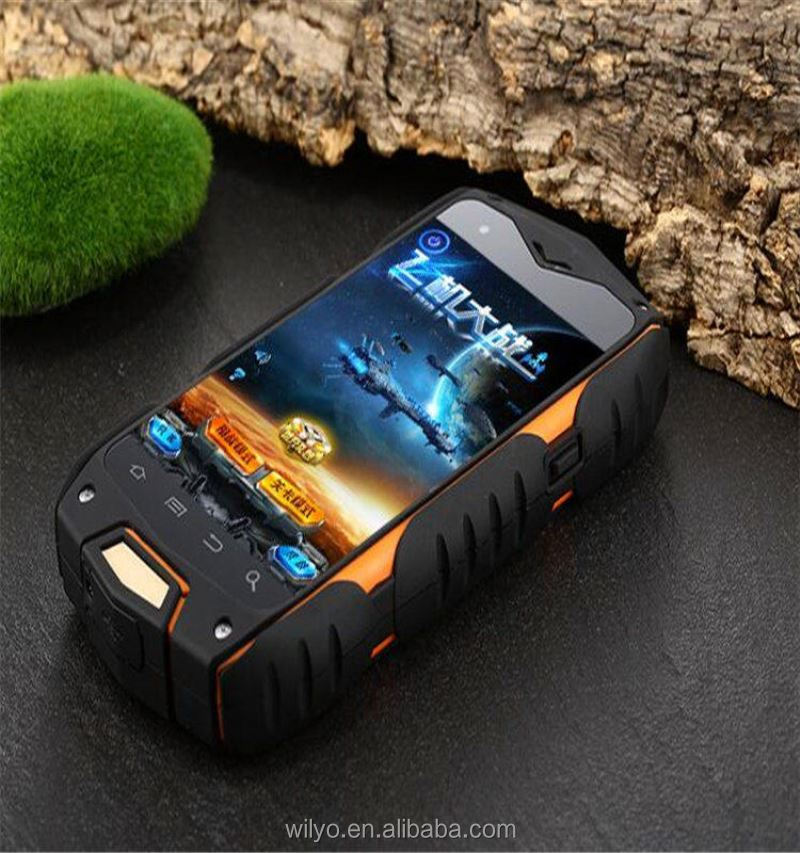 "4.0"" small size drop resistant dustproof China mini rugged waterproff cell phone with whatsapp low price"