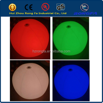 factory supply SGS certificate high quality colour changing ground balloon, high quality inflatable led light ballons