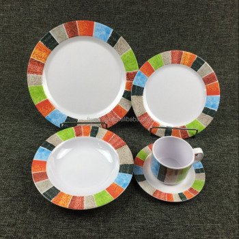 Melamine 5-Piece dinnerware sets for restaurant
