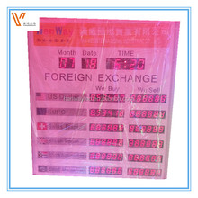 digital led exchange rates display for hotel \ display panel exchange rate manual \ exchange rate billboard banner