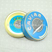 tin cans for caviar, tuna fish